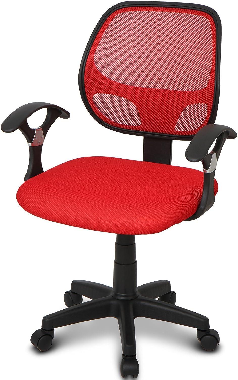 para escritorio Infantastic colores a elegir Gris con respaldo de malla y reposabrazos Silla infantil giratoria
