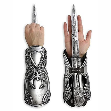 Image Unavailable. Image not available for. Color  Neca Assassin s Creed  Brotherhood Ezio Hidden Blade Gauntlet Vambrace 9b9a2cdb0892
