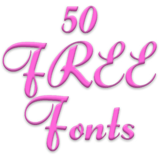 Free Fonts Font - 50 Font Message Maker 6