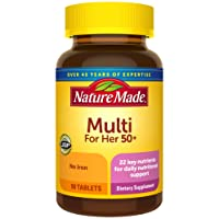 Nature Made Women's Multivitamin 50+ Tablets, 90 Count for Daily Nutritional Support...