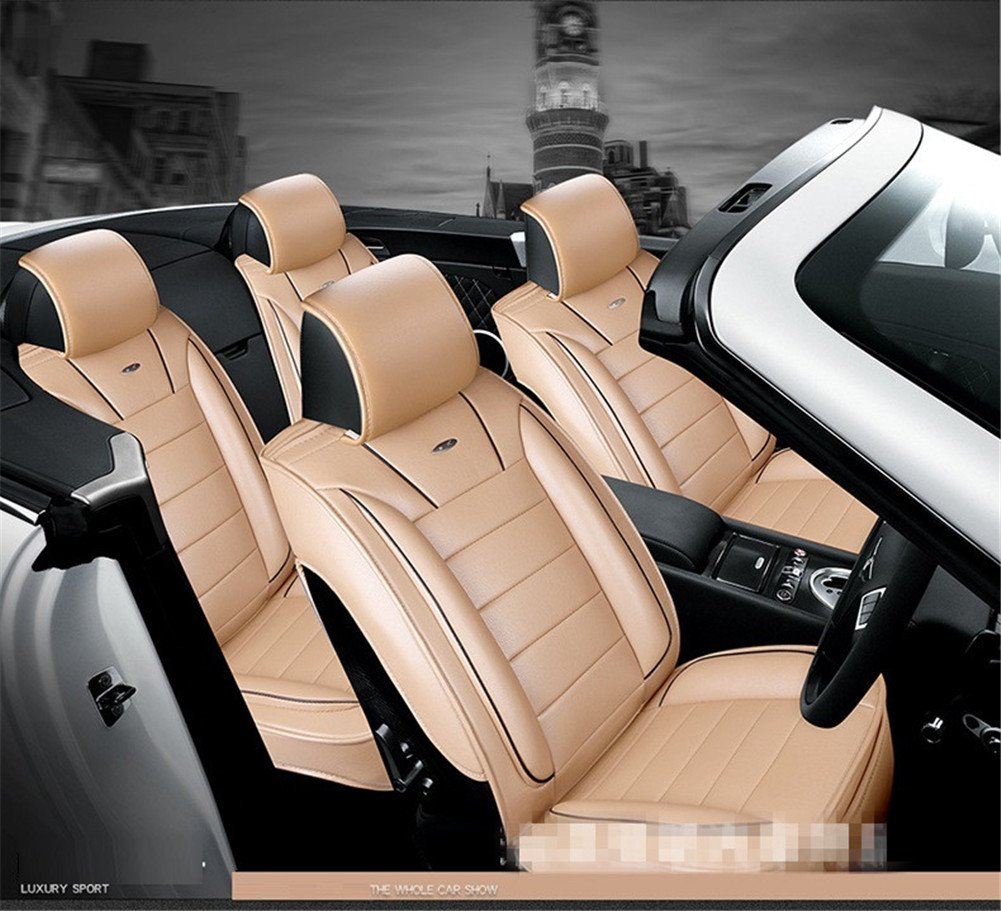 AMYMGLL Cuir universel de voiture Coussin Set /Édition Deluxe 11R/églez 7 et Standard Edition Eco Universal Coussin Car Four Seasons Universal 5 Couleurs options 7set
