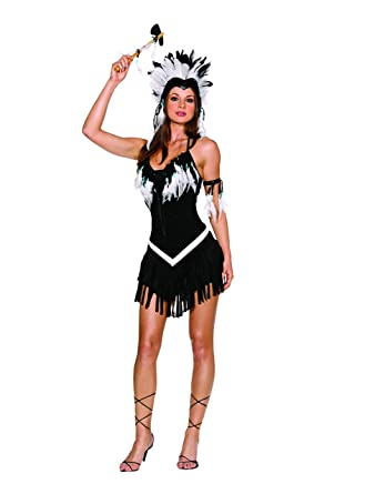 Amazon.com: Dreamgirl Women\'s Tribal Princess Costume: Clothing