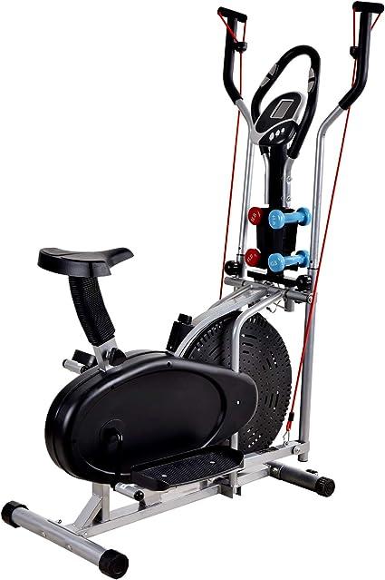 Murtisol - Bicicleta elíptica con Asiento Ajustable, Monitor LCD ...