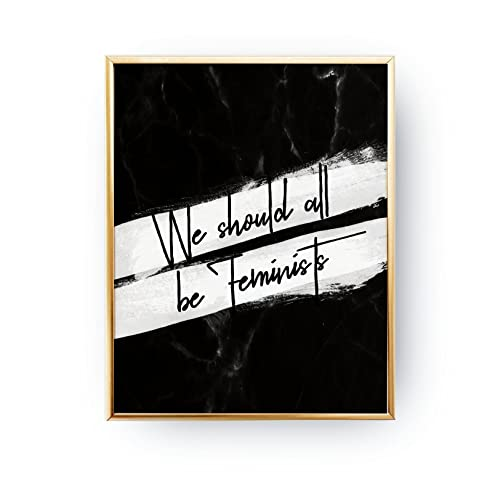 Amazoncom We Should All Be Feminists Print Typography Print
