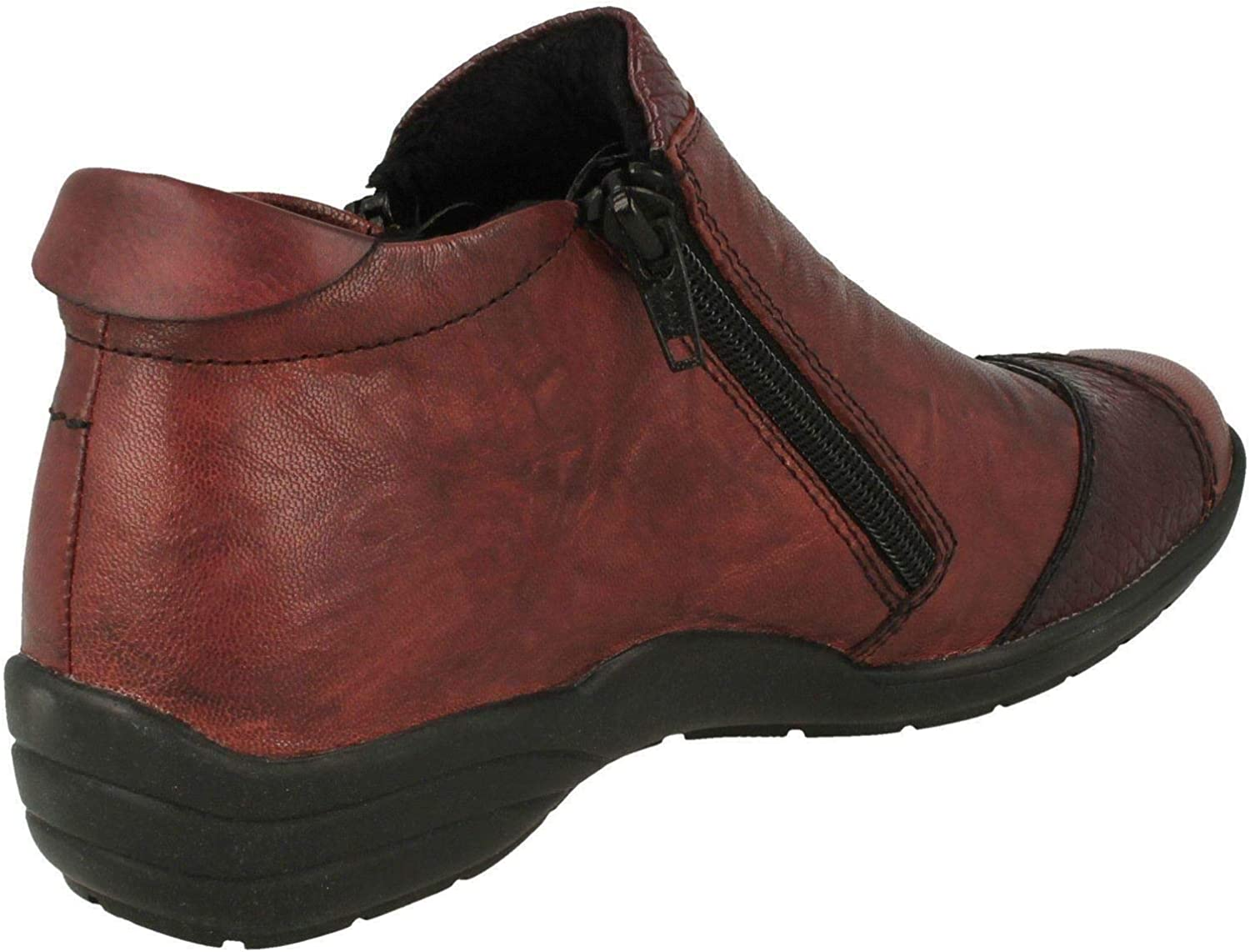 Remonte Ladies Casual Ankle Boots R7671 Red