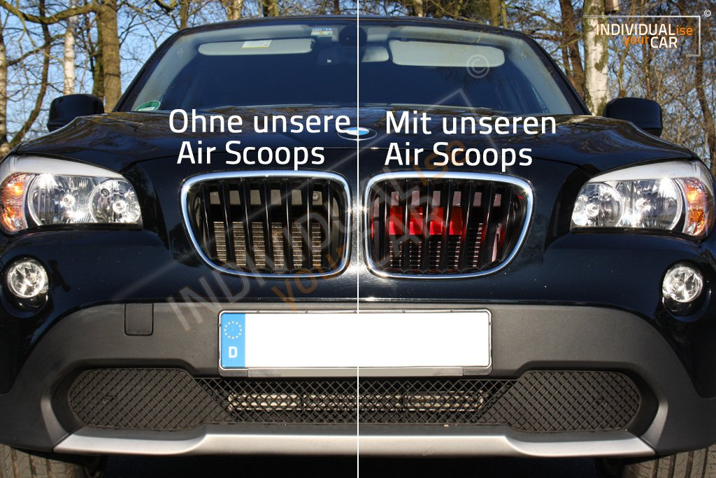Air Scoops Rot f/ür X1 E84 Airintake