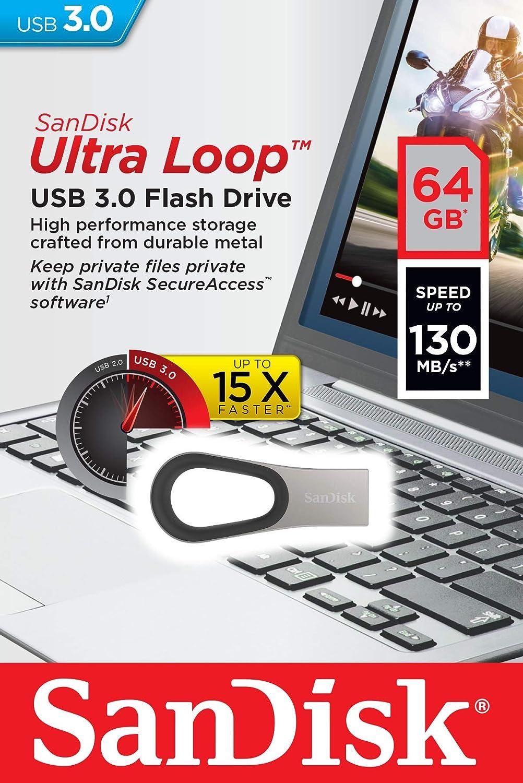 SanDisk 64GB Ultra Loop USB 3.0 Flash Drive - SDCZ93-064G-G46