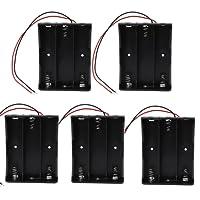 KEESIN Batterie 3.7 V 18650 support de batterie boîtier en plastique boîte de rangement avec Wire Leads et fixation serre-câbles((3 gouttes × 5 pièces))
