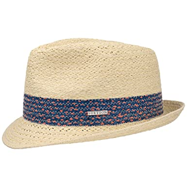 0875649d069606 Stetson Colour Band Raffia Trilby Hat Straw Beach (XXL (62-63 cm) -  Nature): Amazon.co.uk: Clothing