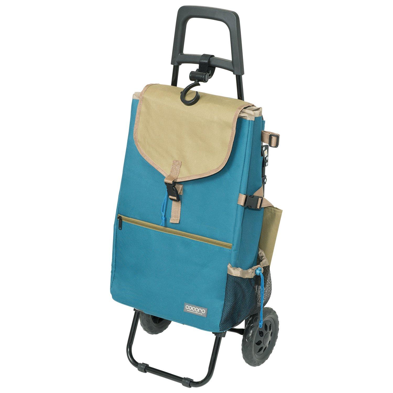 レップ COCORO(ココロ) ショッピングカート チェア付 折りたたみ (保冷保温機能) モリー ターコイズ B01833YM36 ターコイズ ターコイズ