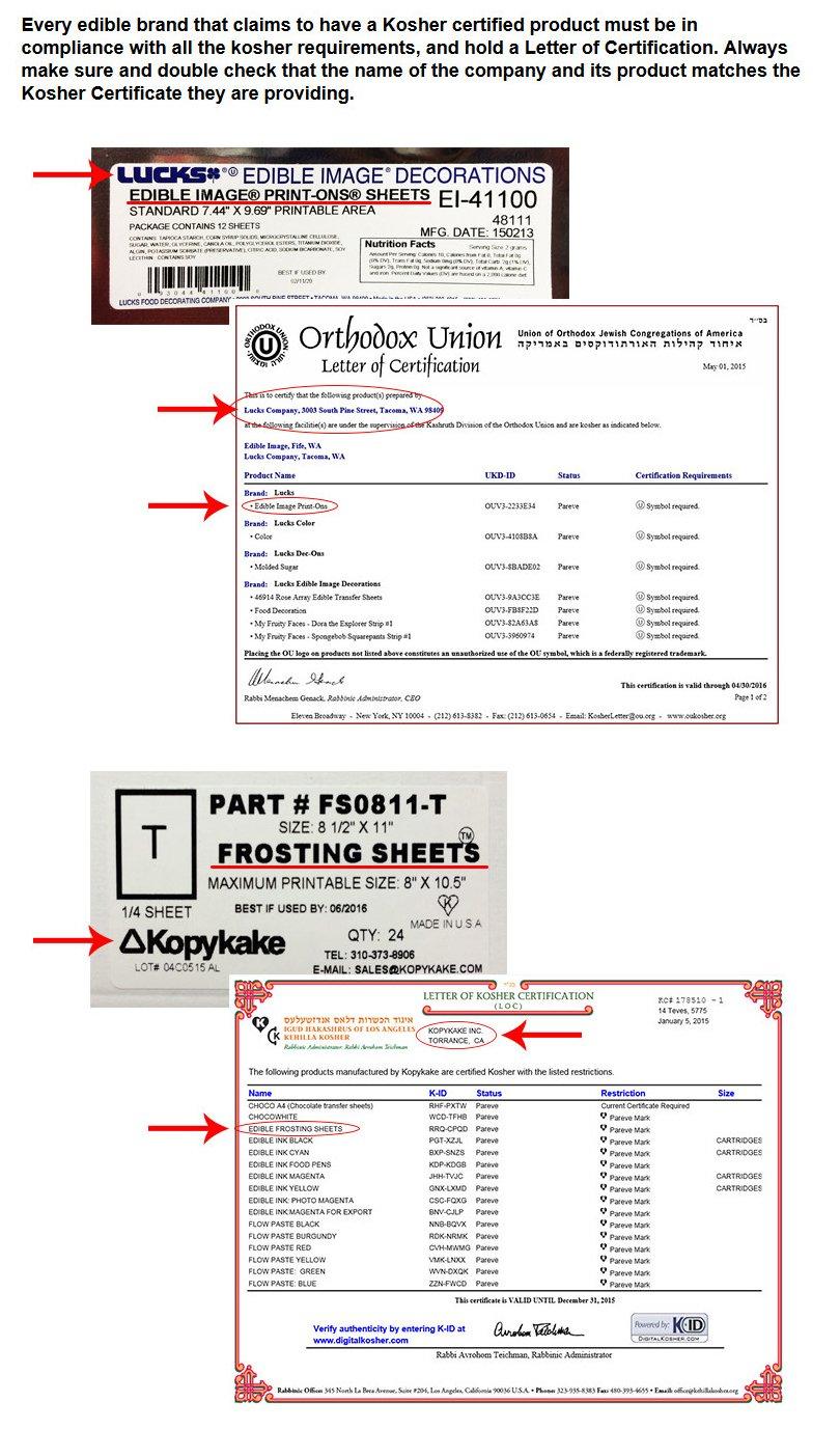 Edible Supply 9 oz Light Cyan/Light Magenta Edible Ink Refill Bottle Combo for All Epson Print