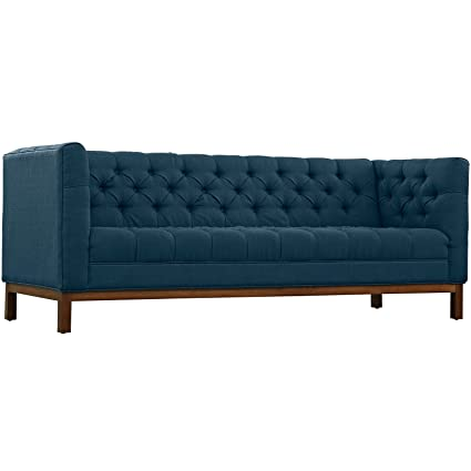 Meridian 646Navy-S Mercer Sofa in Navy Velvet w/ All Over Tufting on ...