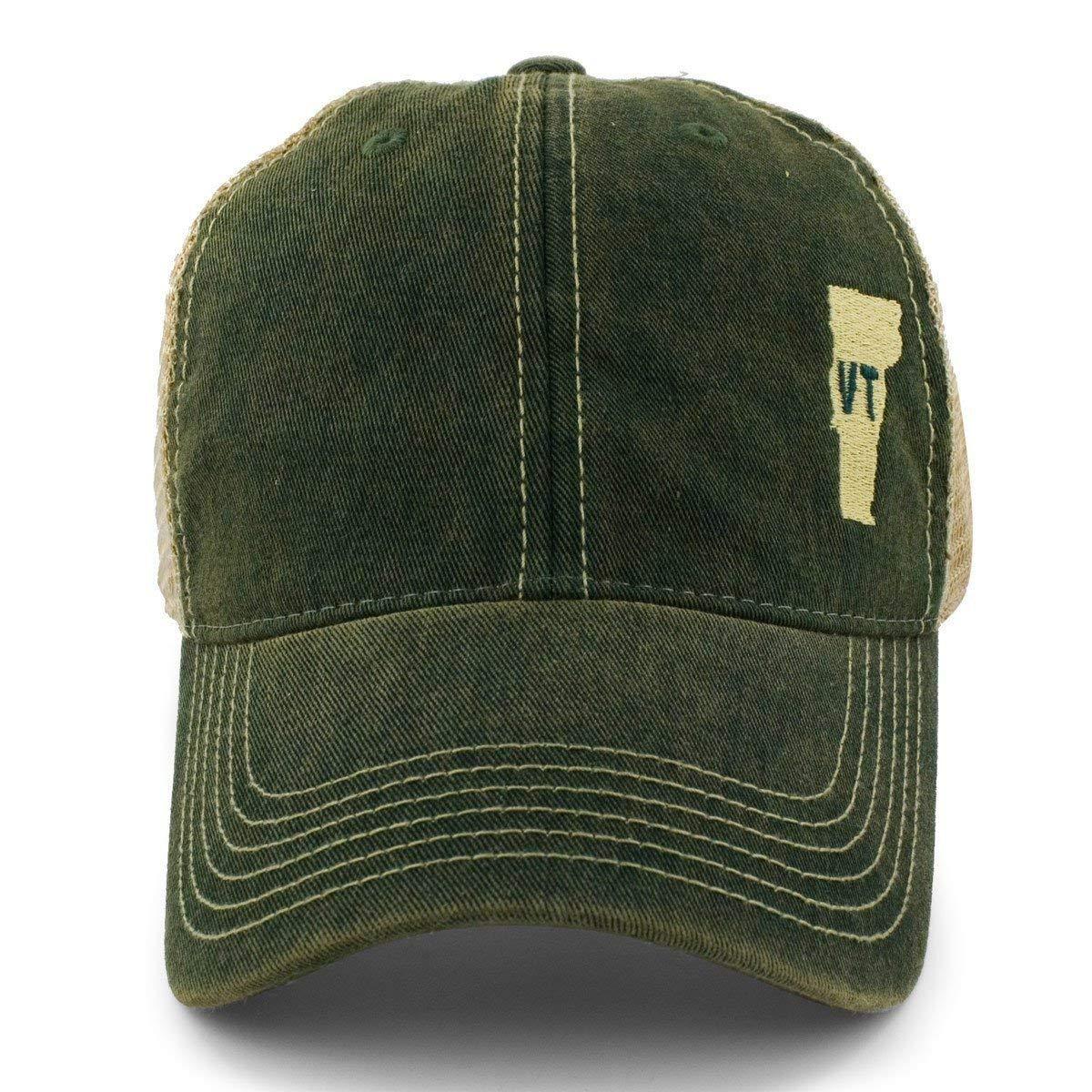783413b54 Chowdaheadz Mini Vermont Dirty Water Mesh Trucker Hat - Green at Amazon  Men's Clothing store: