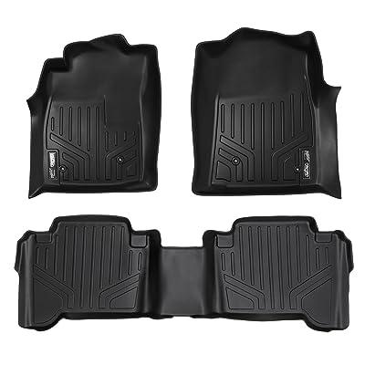 MAXLINER Floor Mats 2 Row Liner Set Black for 2005-2011 Toyota Tacoma Double Cab (No Manuals): Automotive
