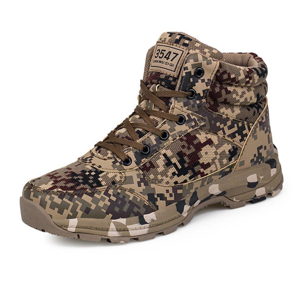 Weien Shop Homme Femme Bottes Sécurité Tactique Chaussures Hiking Climbing High Top Hiver Warm Bottes Lacet Camouflage Baskets 36-46