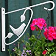 Amagabeli 2 Pack Hanging Plants Brackets 12'' Wall Planter Hooks Hangers Flower Baskets Pot Outdoor Bird Feeder Wind Chimes S