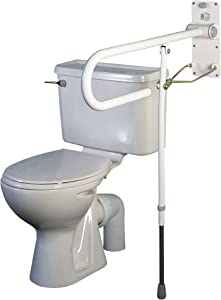 Homecraft Devon Rail with Folding Legs, Bathroom Aid for Elderly, Handicapped, Disabled Users, Bathroom Grab Bar for Stability and Control, Safety Support Handrail and Leg for Lavatory and Bathroom