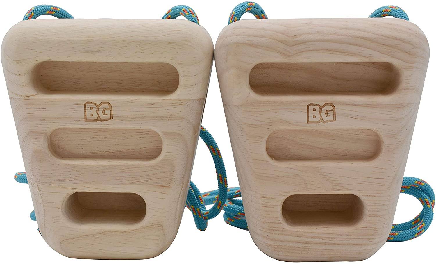 BG Climbing The Only Double Sided Wood Rock Climbing Rock Rings | Compact & Portable Hangboard for Training | Home Equipment for Finger Strength & Fitness