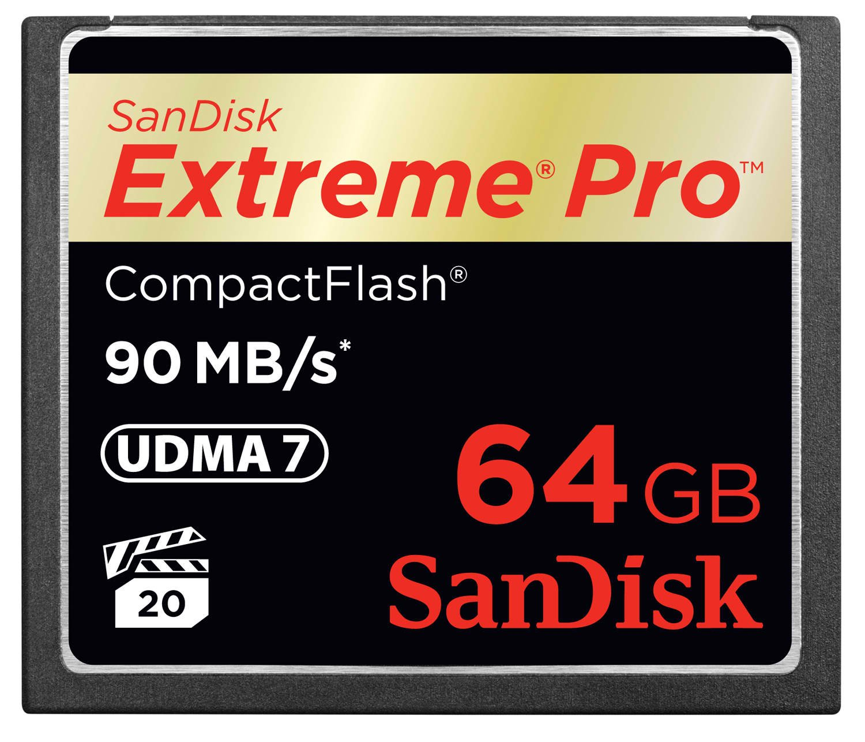 Sandisk Extreme Pro CompactFlash Memoria Flash 64 GB ...