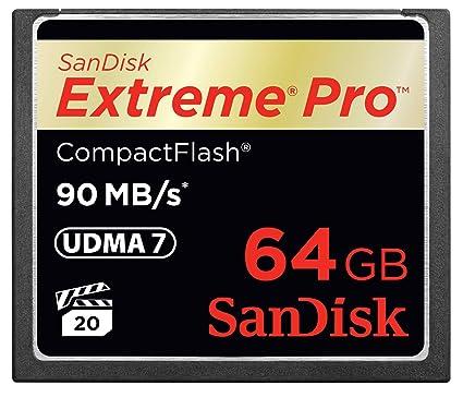 Sandisk Extreme Pro CompactFlash Memoria Flash 64 GB - Tarjeta de ...