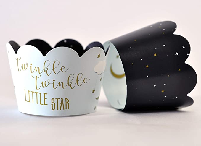 Outer Space Cupcake Cases Cupcake Wrappers Wish Upon a Star Baking Cups Wish Upon a Star Cupcake Liners Galaxy Cupcake Liners