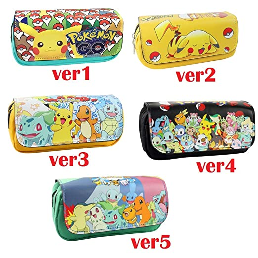 Lqt Ltd Federmäppchenmäppchen Pokémon Go Eevee Pikachu Für