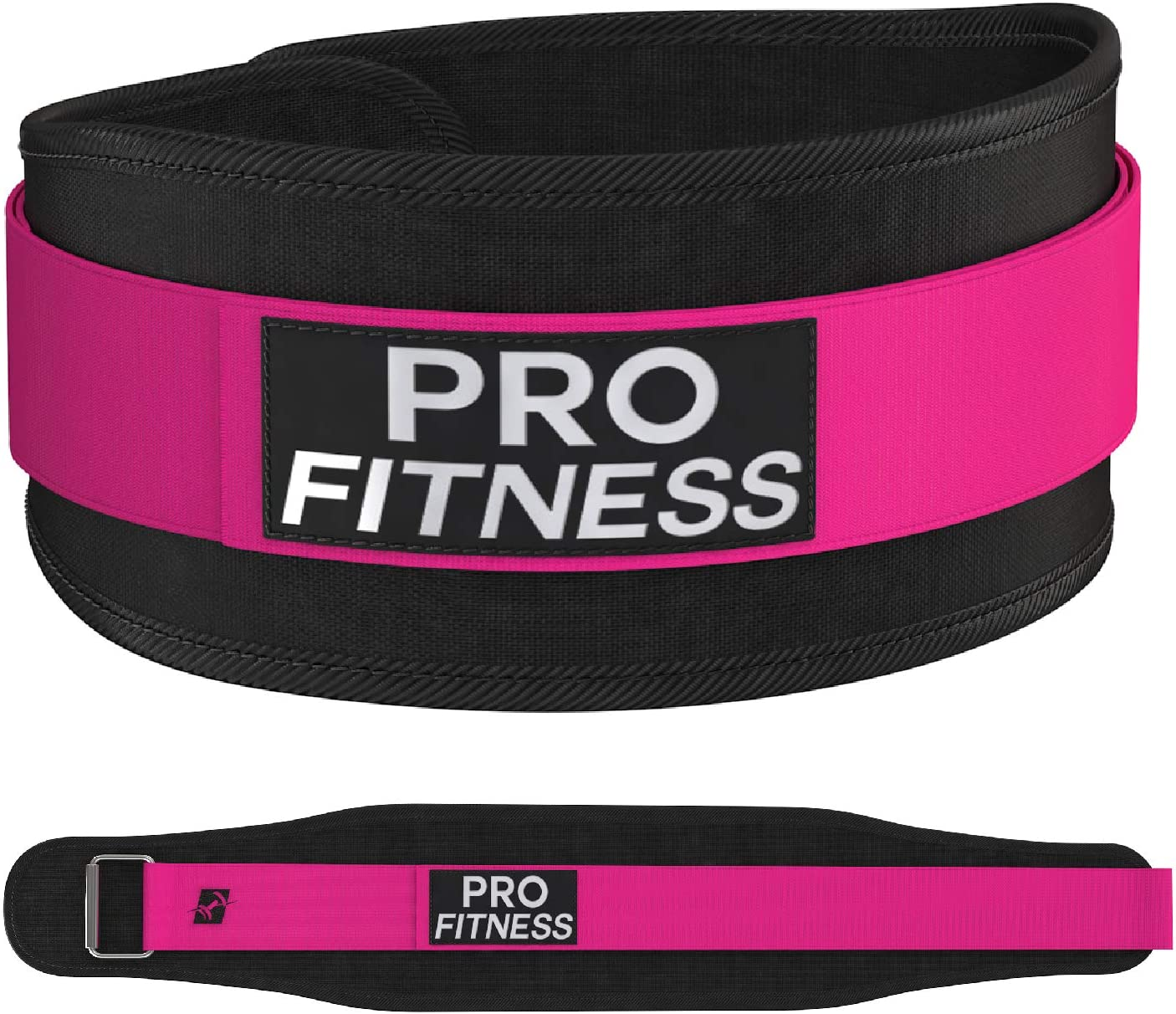 ProFitness Weight Lifting Belt for Women 4 Inchs Wide – Comfortable Durable Weightlifting Workout Belt – Great Lower Back Lumbar Support for Squats, Deadlifts, Cross Training, Gym Workouts