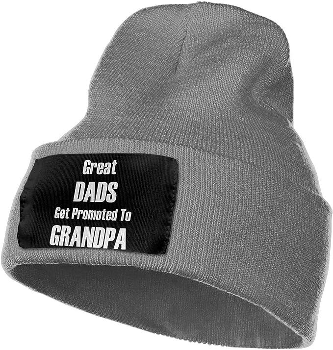 Men Women Great Dad Get Promoted to Grandpas Skull Hat Beanie Cap Winter Knit Hat Cap