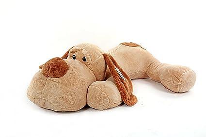 YunNasi perro de peluche grande suave (60 cm) marrón claro