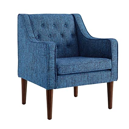 Linon Noda Dark Blue Tufted Back Chair