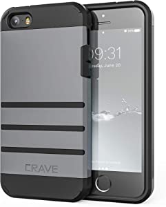iPhone SE [2016](1st gen) Case, iPhone 5s Case, Crave Strong Guard Protection Series Case for iPhone 5 5s SE - Slate