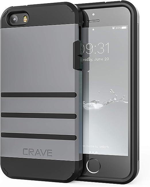Coque iPhone SE [2016](1ère génération) pour iPhone 5s, iPhone 5s, Coque de protection robuste pour iPhone 5/5s SE – Ardoise
