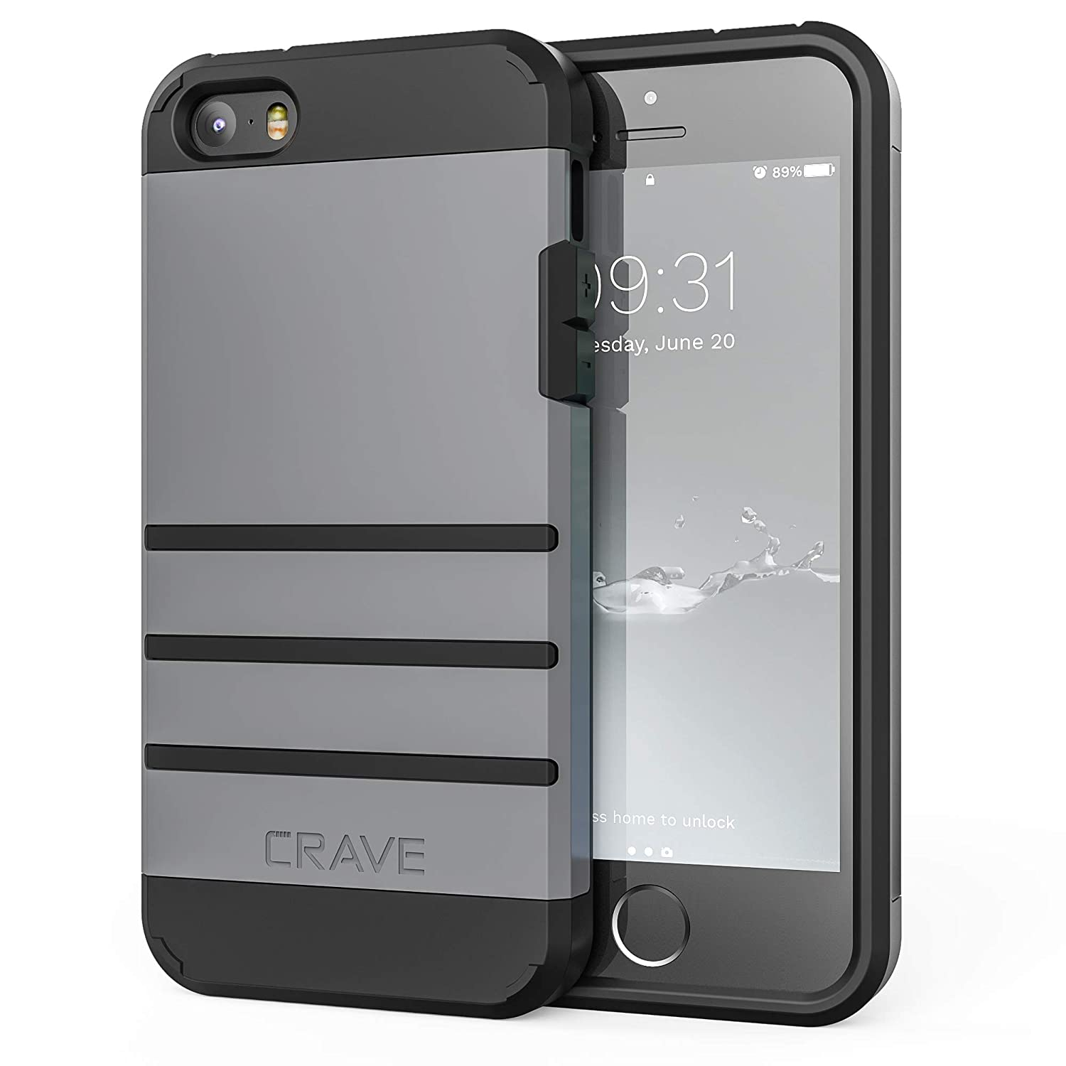 new york 4d9ca 30316 iPhone SE Case, iPhone 5s Case, Crave Strong Guard Protection Series Case  for iPhone 5 5s SE - Slate