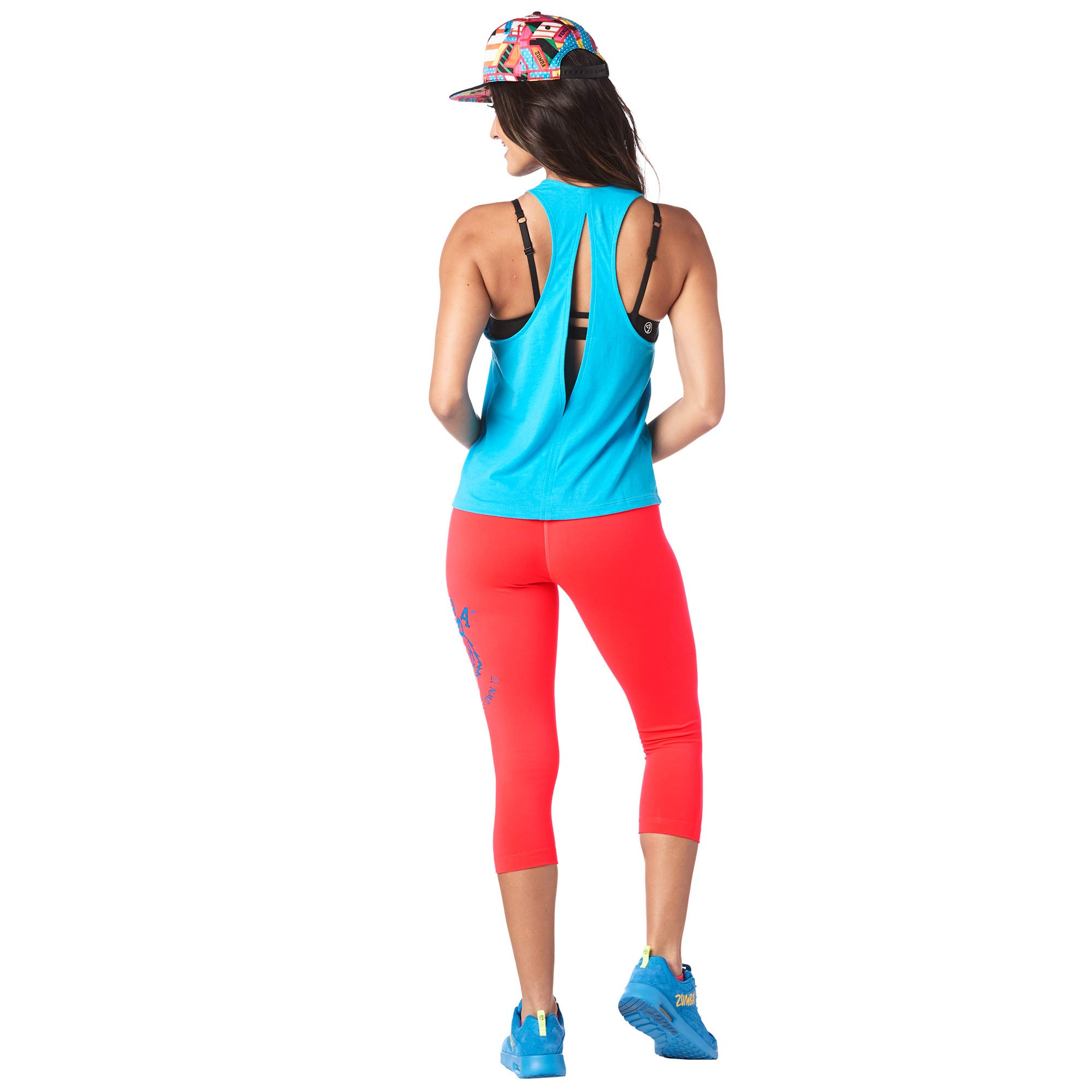 d4e45f6743 Zumba Women's Sexy Open Back Breathable Workout Tank Top, Bangin' Blue,  X-Small