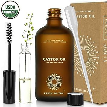100% puro orgánico aceite de ricino. hexano libre, prensado en frío, no