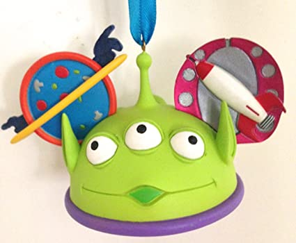 194bba9cd Disney Parks Alien Toy Story Mickey Mouse Ears Hat Ornament: Amazon ...