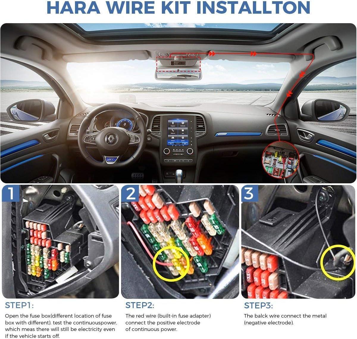 for Garmin 010-12530-03 Power Cord,for Garmin Dash Cam 45 55 65W 46 56 66W and Garmin Dash Cam Mini Power Cable 010-12530-01 Dash Cam Hardwire Kit