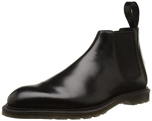 c445abf5877 Dr. Martens Men s WILDE Polished Smooth BLACK Ankle Boots