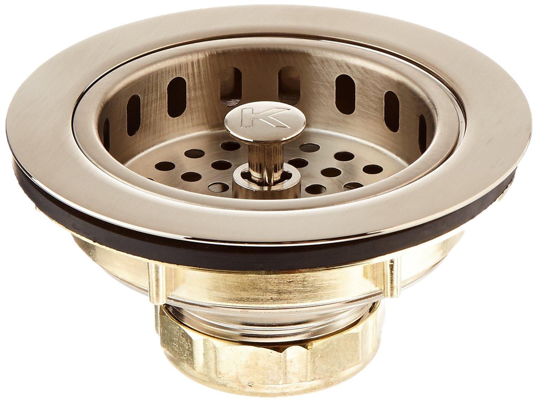 Keeney K5445DSBN Cast Brass Drop Post Sink Strainer Basket, Brushed Nickel
