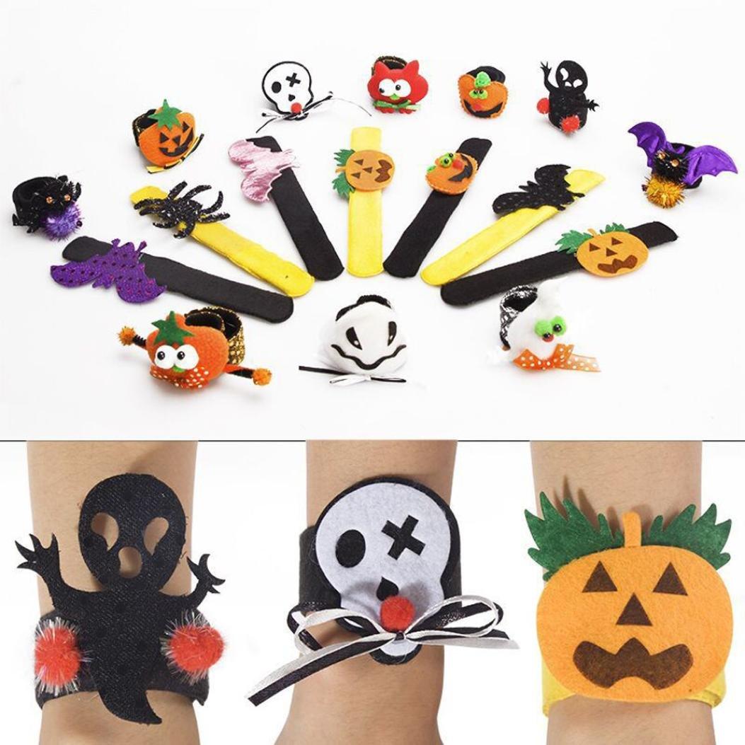 Slap Bracelets Halloween Props,VIASA Halloween Cartoon Pumpkin Hand Ring For Children (F) by VIASA_ (Image #1)