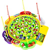 MagiDeal Kids Fishing Game Musical Electric Fishing Toy with 45 Fishes, Xmas Gift