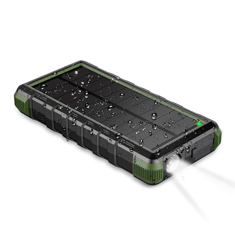 EasyAcc Batería Externa 24000mAh Resistente al Agua Polvo y Golpes Cargador de Viaje USB C