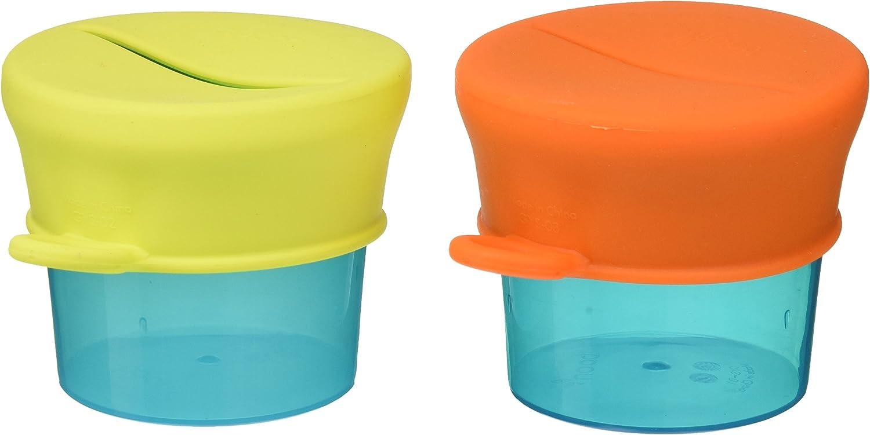 2 Pots et 2 Couvercles en Silicone Petits Pots pour B/éb/é Accessoires pour B/éb/és d/ès 9 mois TOMY BOON Pots pour go/ûter et Couvercles Extensibles SNUG TOMY B11125