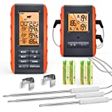 Wireless Digital Meat Thermometer for Grilling Smoking - Kitchen Cooking Candy Thermometer with 3 Probes - Monitor…