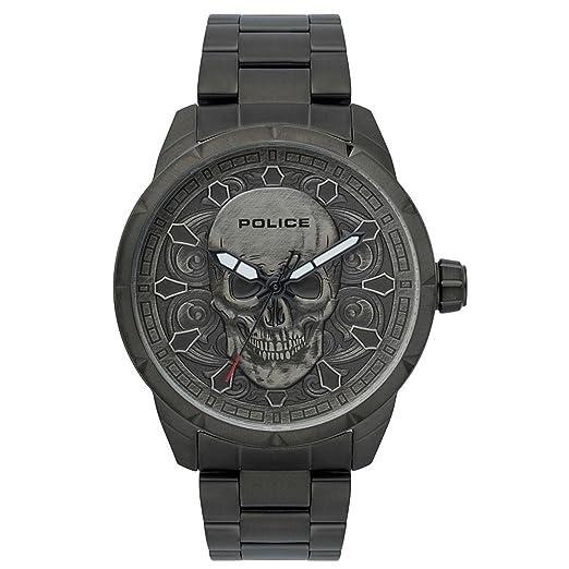 Police Reloj Cronógrafo para Hombre de Cuarzo con Correa en Acero Inoxidable PL.15397JSU/57M: Amazon.es: Relojes