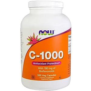 NOW Foods Vitamin C-1000, 500 Vegetarian Capsules
