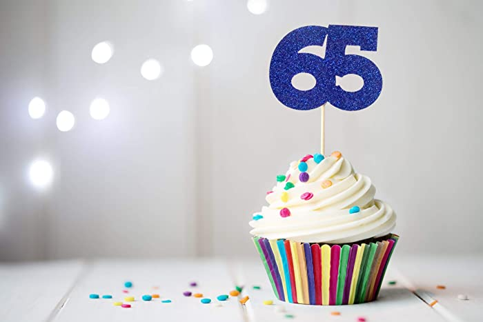 Image Unavailable Not Available For Color 65 Cupcake Topper 65th Birthday