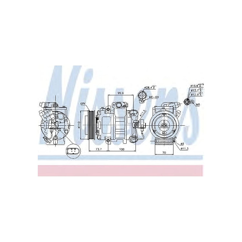 Nissens 89026 Compressor, air conditioning