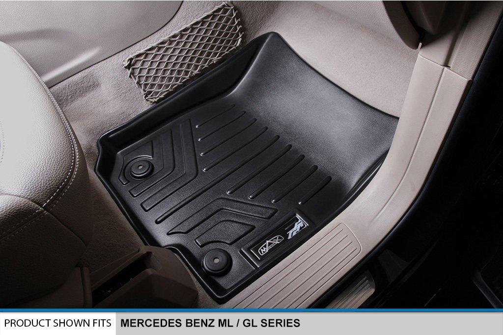 MAXLINER All Weather Floor Mats Trunk for Mercedes Benz GL GLS Series Black