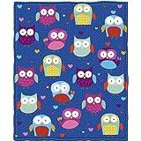 Owls Fleece Throw Blanket by Dawhud Direct